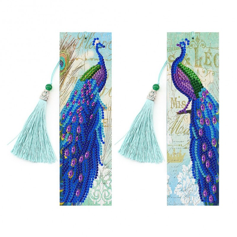 2pcs Peacock Leather...