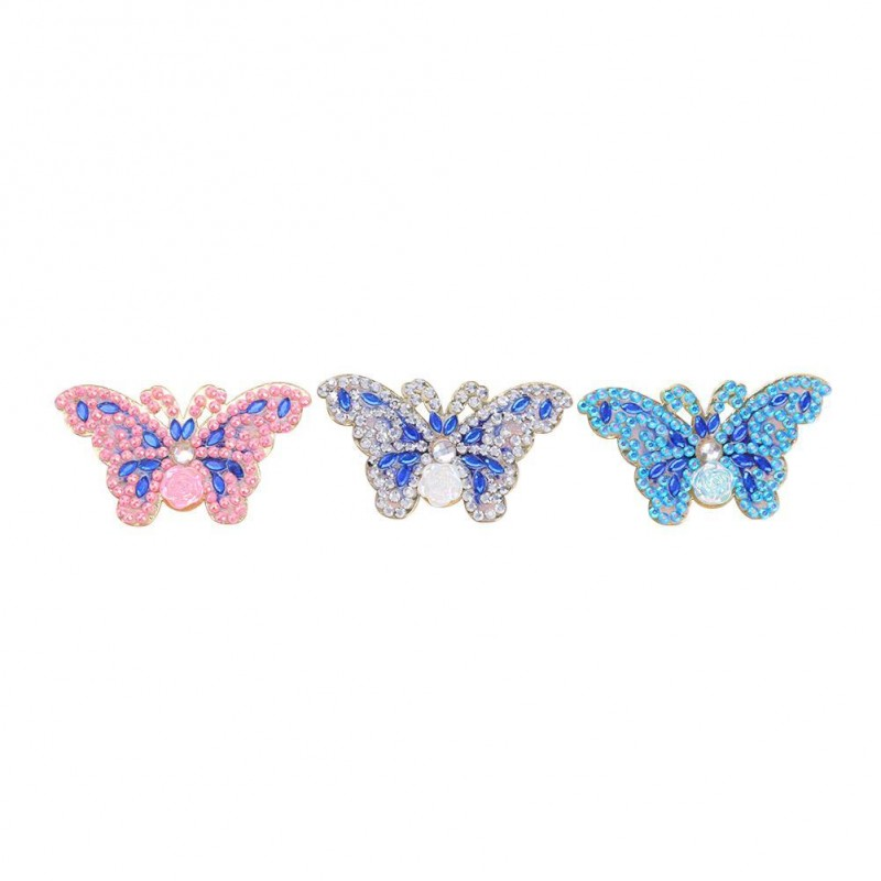 3pcs Butterfly Brooc...