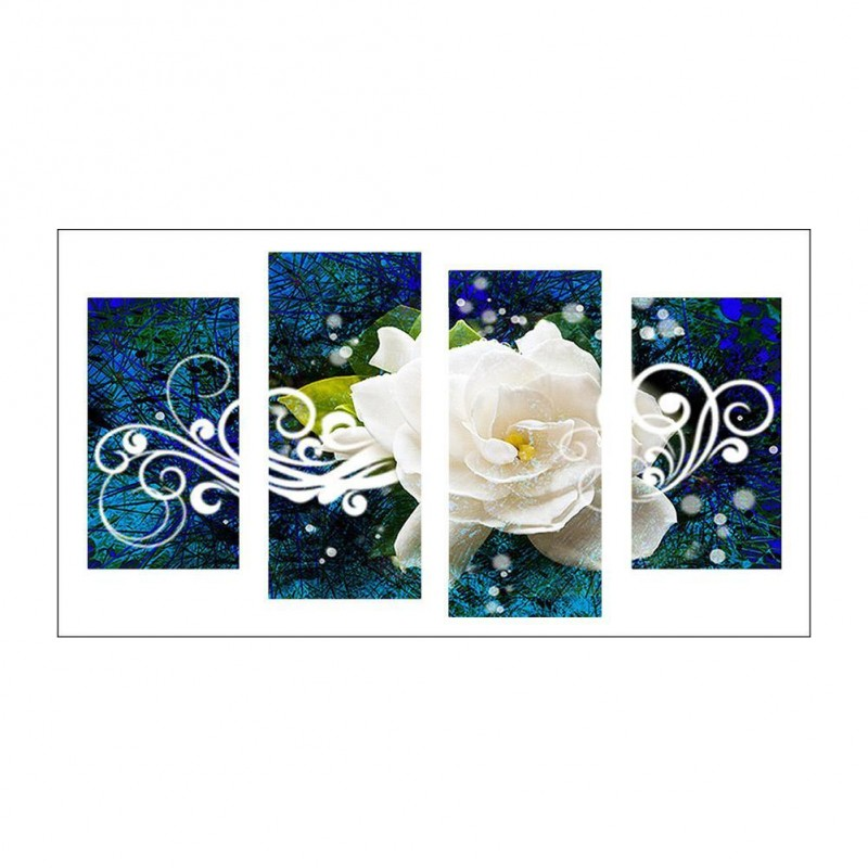 4pcs/set White Rose ...