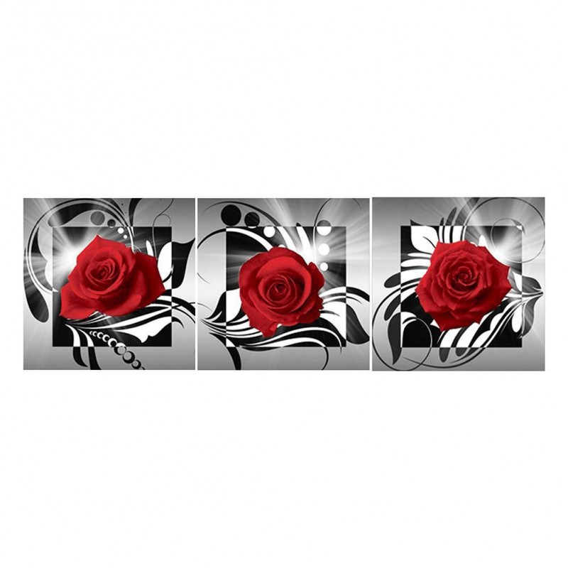 3pcs/set Red Rose-Fu...