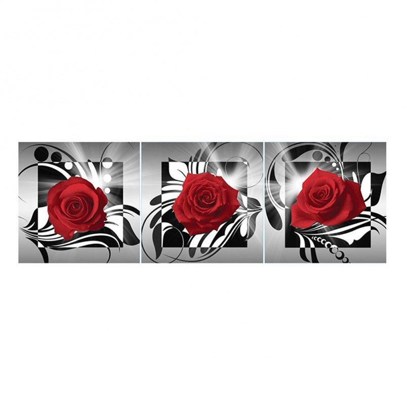 3pcs Red Rose - Full...
