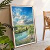5D Diamond Painting Kits Chair on Cliff Full Round Drill Picture Handicraft