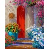 5D DIY Diamond Painting Kits Red Door Full Round Drill Picture Handicrafts