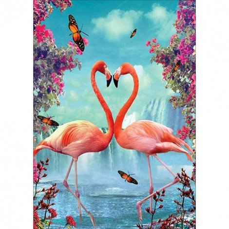Pink Bird  - Full Diamond Painting - 40x30cm