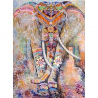 Ethnic Elephant - Full Sq...