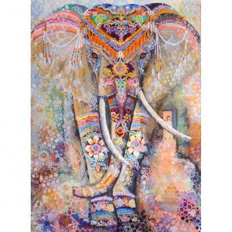 Ethnic Elephant - Full Square Diamond - 40x50cm